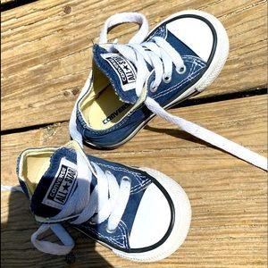 Little kids unisex all-star converses navy blue
